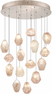 Fine Art Lamps 853140-24ST Natural Inspirations Modern Gold Halogen Multi Hanging Pendant Lighting