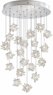 Fine Art Lamps 853240-102ST Natural Inspirations Contemporary Silver Halogen Multi Hanging Pendant Light