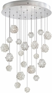 Fine Art Lamps 853240-105ST Natural Inspirations Modern Silver Halogen Multi Pendant Hanging Light