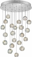 Fine Art Lamps 853240-106ST Natural Inspirations Contemporary Silver Halogen Multi Hanging Light Fixture