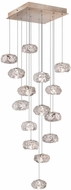 Fine Art Lamps 853340-21ST Natural Inspirations Modern Gold Halogen Multi Pendant Hanging Light