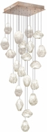 Fine Art Lamps 853340-23ST Natural Inspirations Contemporary Gold Halogen Multi Hanging Light Fixture