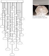Fine Art Lamps 853440-13ST Natural Inspirations Modern Silver Halogen Multi Drop Ceiling Light Fixture