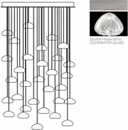 Fine Art Lamps 853540-107ST Natural Inspirations Contemporary Silver Halogen Multi Hanging Pendant Lighting