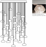 Fine Art Lamps 853540-13ST Natural Inspirations Contemporary Silver Halogen Multi Hanging Pendant Light