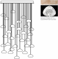 Fine Art Lamps 853540-207ST Natural Inspirations Contemporary Gold Halogen Multi Pendant Hanging Light