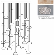 Fine Art Lamps 853540-21ST Natural Inspirations Modern Gold Halogen Multi Ceiling Light Pendant