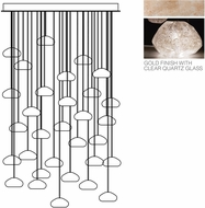 Fine Art Lamps 853540-23ST Natural Inspirations Contemporary Gold Halogen Multi Ceiling Pendant Light