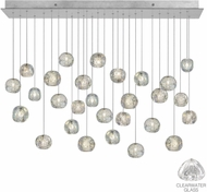 Fine Art Lamps 853640-107ST Natural Inspirations Contemporary Silver Halogen Multi Drop Lighting