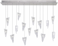 Fine Art Lamps 853740-108ST Natural Inspirations Modern Silver Halogen Multi Drop Lighting Fixture