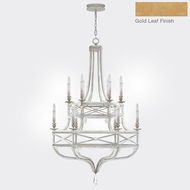 Fine Art Lamps 857640-22ST Prussian Neoclassic Brandenburg Gold Leaf Ceiling Chandelier