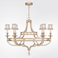 Fine Art Lamps 857840-21ST Prussian Neoclassic Brandenburg Gold Leaf Chandelier Lighting w/ Shades