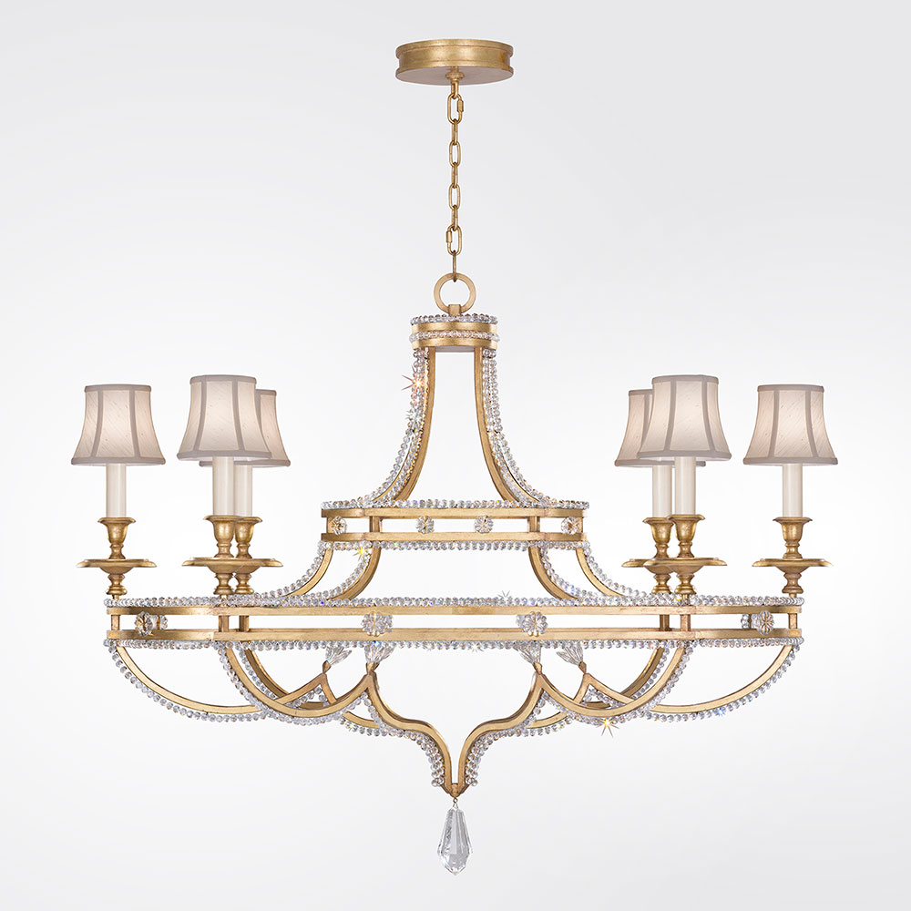 Fine art lamps 857840 21st prussian neoclassic brandenburg gold fine art lamps 857840 21st prussian neoclassic brandenburg gold leaf chandelier lighting w shades loading zoom arubaitofo Images