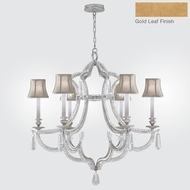 Fine Art Lamps 859040-21ST Prussian Neoclassic Brandenburg Gold Leaf Lighting Chandelier w/ Shades