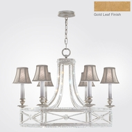 Fine Art Lamps 859240-21ST Prussian Neoclassic Brandenburg Gold Leaf Hanging Chandelier w/ Shades