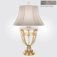 Fine Art Lamps 859510-1ST Prussian Neoclassic Weathered Prussian Silver Gray Table Lighting