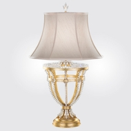 Fine Art Lamps 859510-2ST Prussian Neoclassic Brandenburg Gold Leaf Lighting Table Lamp