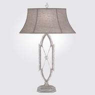 Fine Art Lamps 859610-1ST Prussian Neoclassic Weathered Prussian Silver Gray Table Lamp Lighting