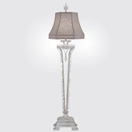 Fine Art Lamps 859915-1ST Prussian Neoclassic Weathered Prussian Silver Gray Buffet Lamp