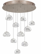 Fine Art Lamps 863540-207ST Natural Inspirations Contemporary Gold Halogen Multi Drop Ceiling Light Fixture