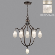 Fine Art Lamps 864740-11ST Quartz and Iron Aged Silver LED Chandelier Lighting