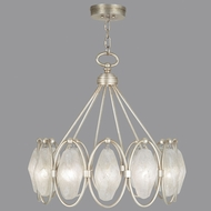 Fine Art Lamps 864840-11ST Quartz and Iron Aged Silver LED Hanging Chandelier