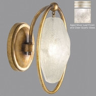 Fine Art Lamps 864950-11ST Quartz and Iron Aged Silver LED Lighting Sconce