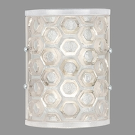 Fine Art Lamps 865050-12ST Hexagons Contemporary Silver Wall Lighting Sconce