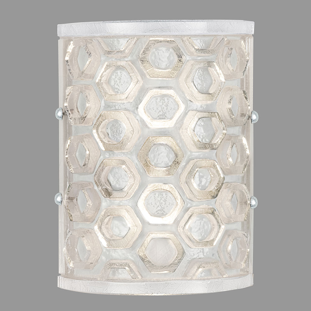 Fine Art Lamps 865050-12ST Hexagons Contemporary Silver Wall Lighting Sconce - FIN-865050-12ST