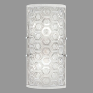 Fine Art Lamps 865250-22ST Hexagons Modern Silver LED Wall Light Sconce