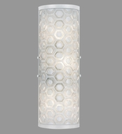 Fine Art Lamps 865450-12ST Hexagons Contemporary Silver Wall Sconce Light