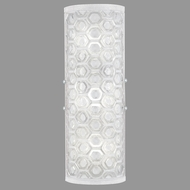 Fine Art Lamps 865450-22ST Hexagons Contemporary Silver LED Wall Lamp