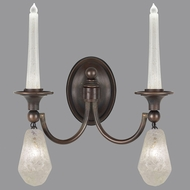 Fine Art Lamps 867650-31ST Quartz and Iron Bronze LED Wall Sconce Lighting