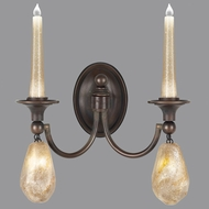 Fine Art Lamps 867650-32ST Quartz and Iron Bronze LED Wall Light Fixture