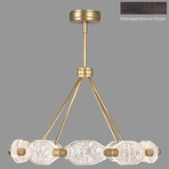 Fine Art Lamps 873040-3ST Allison Paladino Modern Patinated Bronze LED Chandelier Lamp