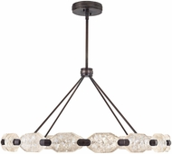 Fine Art Lamps 873140-3ST Allison Paladino Contemporary Patinated Bronze LED Hanging Chandelier