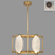 Fine Art Lamps 875540-31ST Allison Paladino Contemporary Patinated Bronze LED Hanging Pendant Light