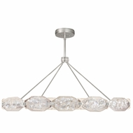 Fine Art Lamps 875940-11ST Allison Paladino Contemporary Prussian Silver Gray LED Drop Ceiling Lighting