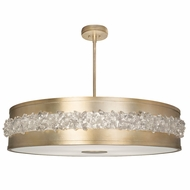 Fine Art Lamps 876240-1ST Arctic Halo Champagne Tinted Gold Leaf Pendant Light