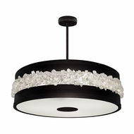 Fine Art Lamps 876340-2ST Arctic Halo Matte Black Hanging Light