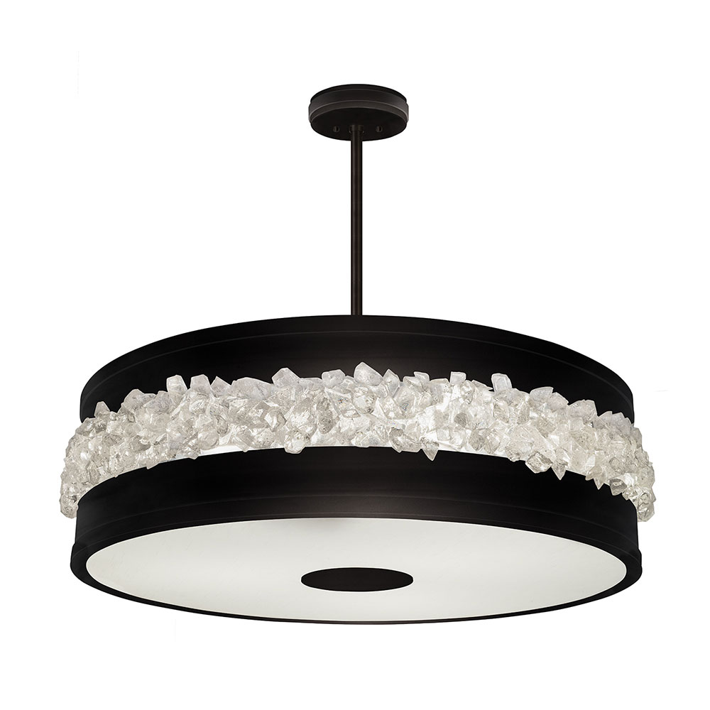 Fine Art Lamps 876340 2ST Arctic Halo Matte Black Hanging Light. Loading  Zoom