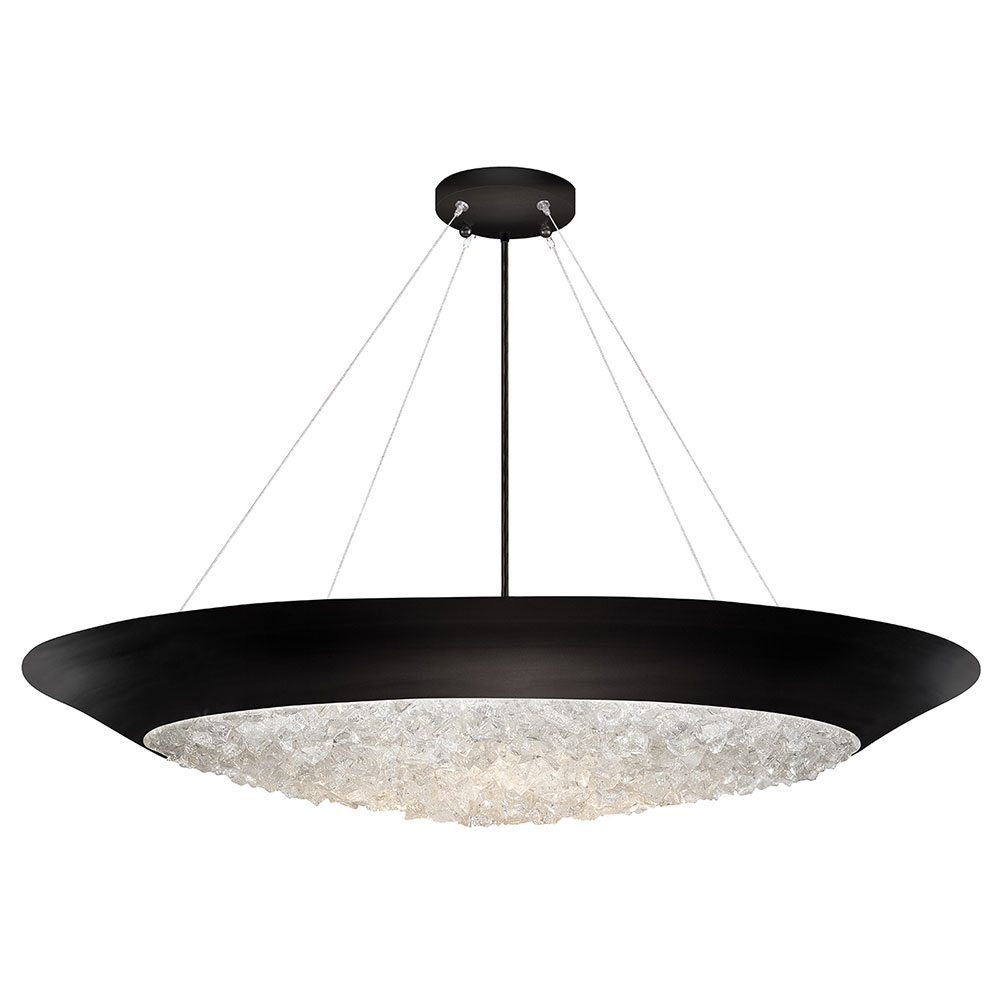 Fine Art Lamps 876440-2ST Arctic Halo Matte Black Hanging ...