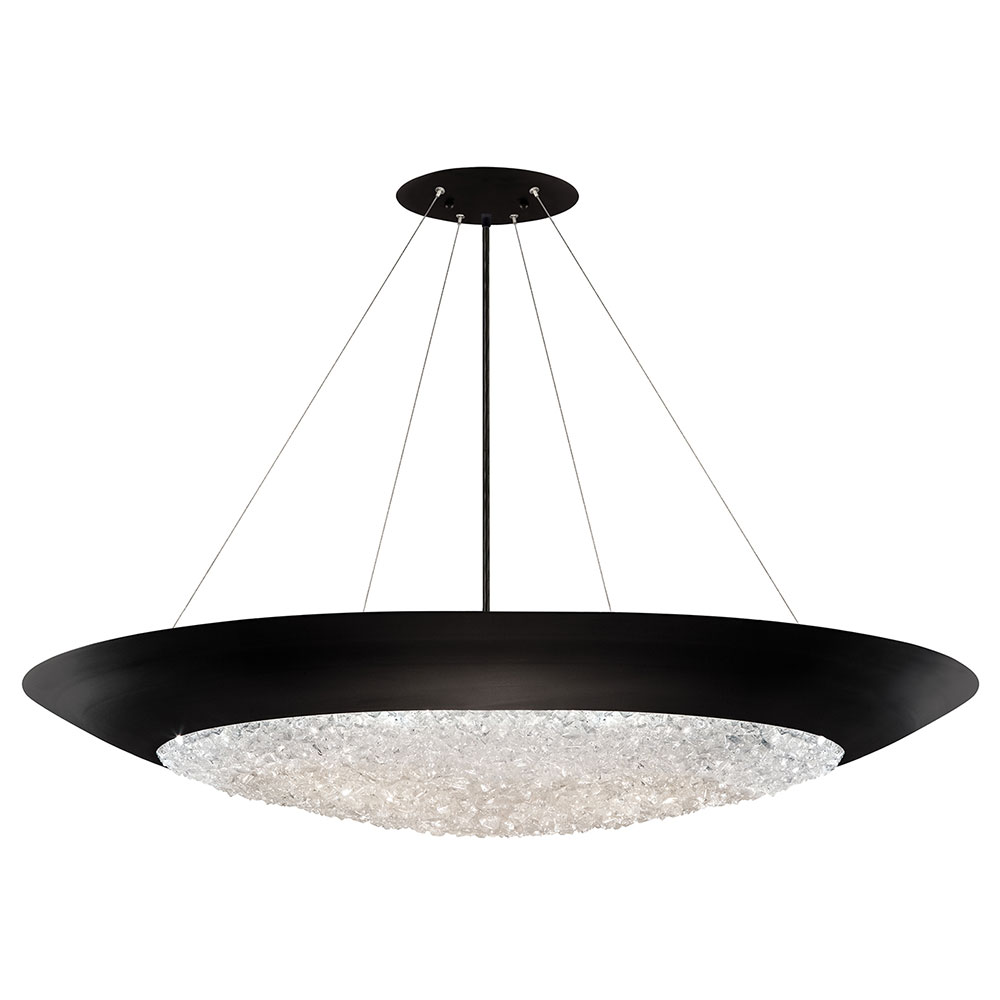 Fine Art Lamps 876540 2ST Arctic Halo Matte Black Hanging Light Fixture.  Loading Zoom