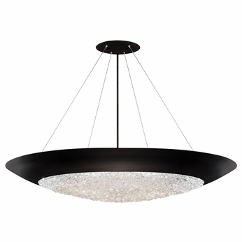 Fine Art Lamps 876540 2ST Arctic Halo Matte Black Hanging Light Fixture
