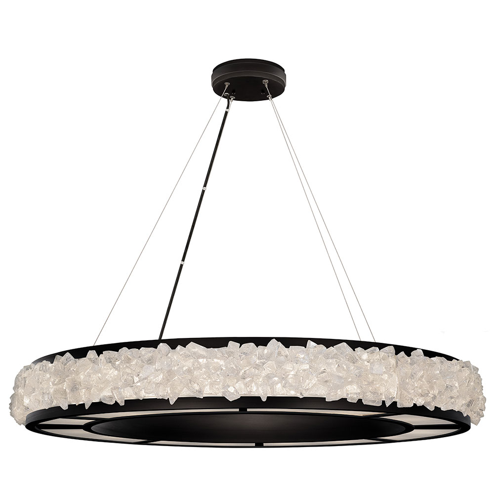 Fine Art Lamps 878040-2ST Arctic Halo Matte Black Ceiling ...