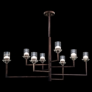 Fine Art Lamps 879040ST Neuilly Patinated Bronze Chandelier Lamp