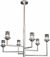 Fine Art Lamps 879640-1ST Neuilly Silver Leaf Hanging Chandelier