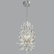 Fine Art Lamps 881540ST Lily Buds Silver Leaf Pendant Light