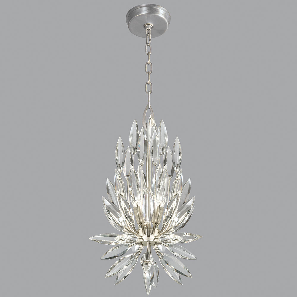 fine art lamps 881540st lily buds silver leaf pendant light loading zoom
