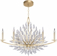Fine Art Lamps 883240-1ST Lily Buds Gold Chandelier Light
